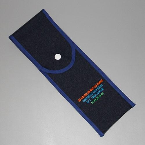 Pochette en tissu - coloris bleu